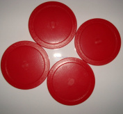 Air Hockey Arcade Quality 4 x 63mm Pucks Red