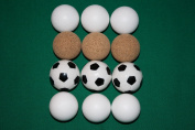 table football balls 12 Balls 4x3 piece in the assortment