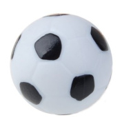 32mm Plastic Soccer-Style Table Foosball Ball Football Fussball--Black and White