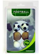 Carromco Table Football Balls 2 x Black / White 2 x White 2 x Plain Cork