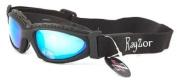2013 Rayzor Professional UV400 Black 5.1cm 1 Ski / SnowBoard Sunglasses / Goggles, With an Anti Fog Treated Blue Iridium Mirrored Anti-Glare Clarity Lens and a Detachable Elasticated Headband