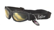 Rayzor Professional UV400 Black 5.1cm 1 Padded Sports Sunglasses / Goggles, With a Clear Yellow Anti-Glare Clarity Lens and a Detachable Elasticated Headband