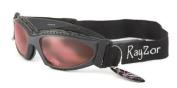2013 Rayzor Professional UV400 GunMetal Grey 5.1cm 1 Cycling - MTB Anti Fog Sunglasses / Goggles, With a Clear Rose Anti-Glare Clarity Lens and a Detachable Elasticated Headband & Inner Foam Padding.