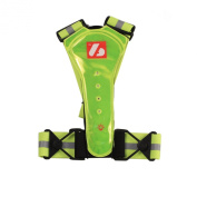 LW-1 runing training trail Fluorescent vest with LED lights and reflective stripes