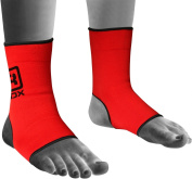 Authentic RDX Pro Ankle Foot Support Anklet Pad Red MMA Brace Guard