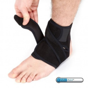 PhysioRoom Advanced Adjustable Ankle Strap Neoprene Compression Support Brace