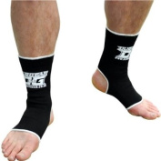 M BLACK DUO Muay Thai Kickboxing Ankle Support Anklets