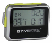 Gymboss Interval Timer and Stopwatch - SILVER / YELLOW METALLIC GLOSS