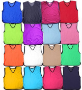 Training Mesh Football Soccer Rugby Bibs pack of 10