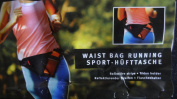 WAIST BAG FOR RUNNING JOGGING WITH HOLDER FOR WATER BOTTLE.