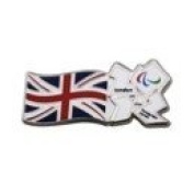Union Flag with Paralympic White Logo pin Badge London 2012 Olympic Games