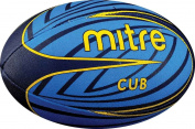 Mitre Cub 4p Rugby Ball - Blue/Yellow Size 3