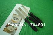 10cm Plastic Handle 3pcs/set Straight/angled Cake Spatula Smooth Filling Icing Tool Cake Decorating Tools
