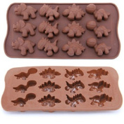 New Style Dinosaur Modelling 12pcs/set Silica Gel Cake Tools Chocolate Manufacture Mould Cake Cookie Muffin Candy Jelly #29733
