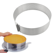 New 24-30cm Cake Mould Stainless Steel Adjustable Slices Layered Cake Pan/ Baking Mould/cake Pan/mousse Ring