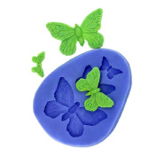 F0319 Butterfly Cake Mould Handmade Silicone Baking Tools Decorations For Cakes Fondant Chocolates Mould Soap Mould