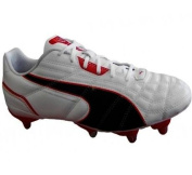 King Universal H8 SG Rugby Boots White/Red/Silver