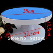 28cm Adjustable Icing Cake Rotating Turntable Decorating Display Stand Sugarcraft