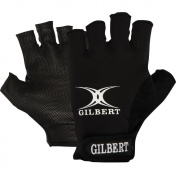 Gilbert Men's Synergie Rugby Gloves - Black, X-Small