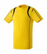 erima razor line athletic t-shirt yellow/black