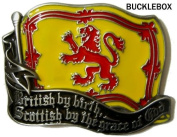 SCOTTISH BY THE GRACE OF GOD BELT BUCKLE + display stand