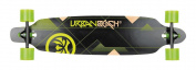 "Urban Beach 39"" / 99cm Twin Tip Longboard Skateboard Cruiser ""Nexus Green"" Design"