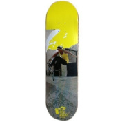 Red Rebel Skateboard Deck Yellow 20cm