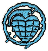 Thunder Trucks Sonora Toxin Hand Grenade Skateboard Sticker - Blue