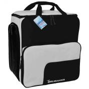Practical BRUBAKER Ski Boot Winter Sports Bag Backpack SUPER FUNCTION Holds Complete Set of Ski and Snowboard Equipment Incl. Helmet Black/Silver