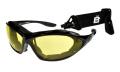 Birdz Thrasher Convertible Padded Sunglasses Black/Yellow ML