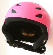 Pink Girls Protective Ski Helmet (56-58 cm head circumference = large child / kid / junior) CE EN 1077 tested and certified for skiing and snowboarding