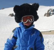 Ski Helmet Cover Black Bear.