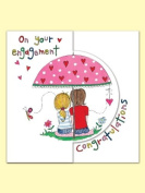 Rachel Ellen Engagement Sugar Moon Card