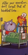 Bargain Giftz - Get Well - Operation Card With Lilac Envelope
