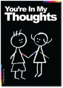 Sympathy Card - Chalks Designer Range - You're In My Thoughts - CK017