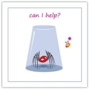 """Inspiration Card - """" Can I Help . """" Harvey The Spider Designer Range - HV008"""