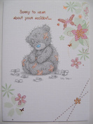 ME TO YOU TATTY TED SORRY TO HEAR ABOUT YOUR ACCIDENT GET WELL GREETING CARD