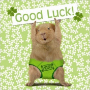 """Lucky Pants"" Guinea Pig Good Luck Card"