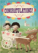 Congratulations - Greeting Card stephen mackey 13cm x18cm greeting card,happy bithday