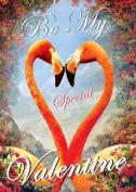 Valentines Greeting Card - Flamingoes - by Max Hernn
