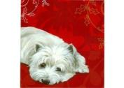 Brandy Snap Westie Pollyanna Pickering Luxury Xmas Card Pack