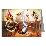 Assorted Circus Posters circa 1880-1900 Greeting Card Set