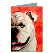 Bulldog Half Face Note card Set