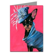 Chihuahua in Haute Couture Dress Greeting Card