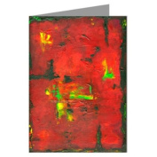 """Farenheit 5080cm Original Abstract Art by the Artist Philo Greeting Card boxed set"