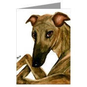 Greyhound With Crossed Legs Greeting Card