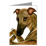 Greyhound with Legs Crossed Notecard Set