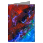 """Hot Sky"" Original Abstract Art by the Artist Philo Greeting Card boxed set"