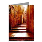 Quiet street in Jerusalem Greeting card set