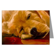 Redford the Golden Retriever and Jimmy Greeting Card